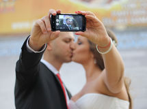Wedding selfie Royalty Free Stock Photography