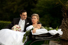 Wedding series, carriage Stock Image