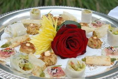 Wedding serve plate Stock Images