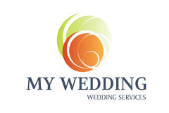 Wedding Services Logo Design Stock Photo