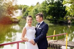 Wedding session in the park Royalty Free Stock Photography