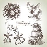 Wedding set stock illustration