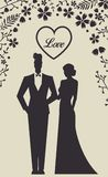 Wedding Set card - Just Married Royalty Free Stock Photos