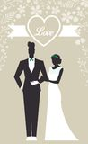 Wedding Set card - Just Married Stock Image