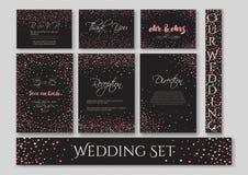 Wedding set cards Royalty Free Stock Image