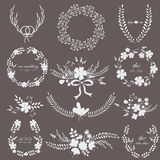 Wedding set with flowers Royalty Free Stock Photos