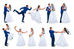 Wedding set of groom and bride Royalty Free Stock Photos
