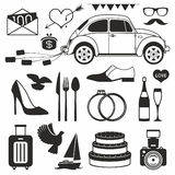 Wedding set icon Stock Images