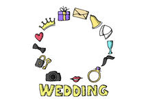 Wedding set illustration Stock Photography