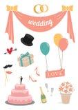 Wedding set of 11 items pastel Stock Photography