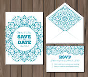 Wedding set with lace elements Royalty Free Stock Photo