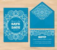 Wedding set with lace elements Stock Photography