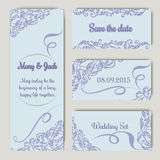 Wedding set in lavender color Stock Photos