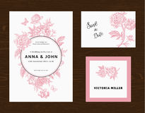 Wedding set. Menu, save the date, guest card. Royalty Free Stock Photo
