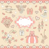 Wedding set patterns for wedding decorations Royalty Free Stock Images