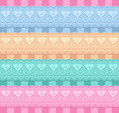 Wedding set of ribbons with hearts. Vector set of ribbons with hearts Stock Image