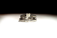 Wedding set rings Royalty Free Stock Image