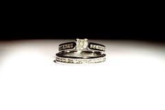 Wedding set rings Royalty Free Stock Image