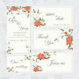 Wedding set with roses Royalty Free Stock Images