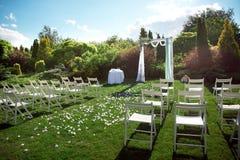Wedding set up. stock images