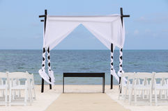 Wedding set up on the beach Royalty Free Stock Image