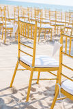Wedding set up on beach Stock Image