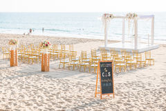Wedding set up on beach Stock Photography