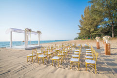 Wedding set up on beach Royalty Free Stock Image