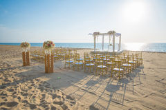 Wedding set up on beach Royalty Free Stock Images