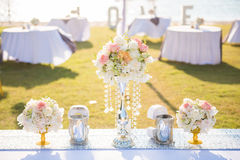Wedding set up on beach Royalty Free Stock Photo