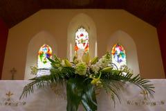 Wedding set up in Church. Ireland Stock Image