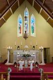 Wedding set up in Church. Ireland Royalty Free Stock Image