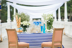 Wedding set up and Decorate Set for Celebrate and Event dinner party Stock Photography
