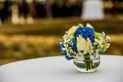 Wedding set up in garden inside beach Stock Image
