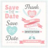 Wedding set. Vector illustration. Stock Photo