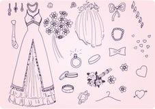 Wedding_set_01 Stock Image