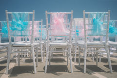 Wedding setting on the beach. Stock Image