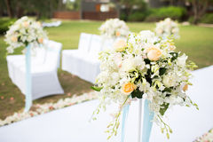 Wedding setting. Beautiful wedding setting at the garden Stock Photography
