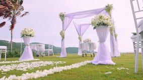 Wedding setting ceremony stock video footage