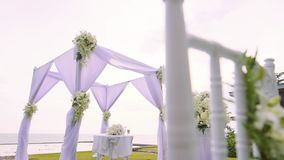 Wedding setting detail stock video