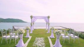 Wedding setting detail stock footage