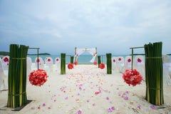 Wedding setting Stock Photography
