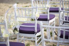 Wedding setting Stock Image