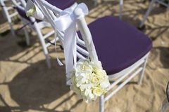 Wedding setting Stock Photography
