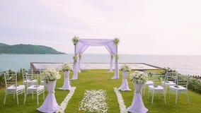 Wedding setting on Kata Rock stock footage
