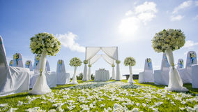 Wedding setting. Out Door Wedding setting Royalty Free Stock Photos