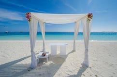 Wedding setup at Maldives Royalty Free Stock Photography