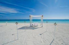 Wedding setup at Maldives Royalty Free Stock Photos
