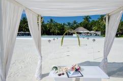 Wedding setup at Maldives Royalty Free Stock Images