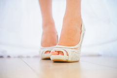 Wedding Shoe on Floor Royalty Free Stock Photo